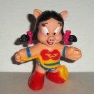 McDonald's 1991 Super Looney Tunes Petunia Pig as Wonder Woman Figure Happy Meal Toy Loose Used