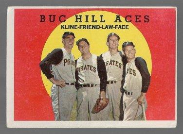 1959 Topps Baseball Card 428 Buc Hill Aces Ron Kline Bob