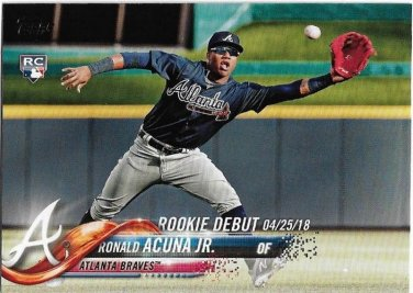 2018 Topps Update Baseball Card Us252 Ronald Acuna Jr
