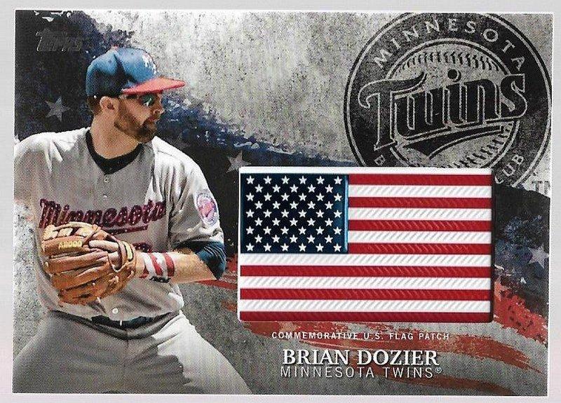2018 Topps Independence Day U.S. Flag Patch Baseball Card #IDMLBD Brian Dozier Minnesota Twins NM-MT