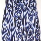 CALVIN KLEIN LONG SHIRT/TUNIC WOMEN'S PLUS SIZE 1X BLUE/BLK/WHITE MSRP $125 NWOT