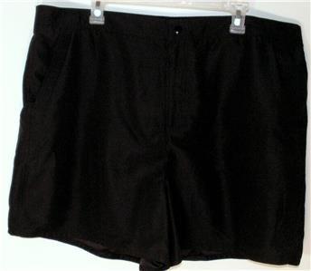 WOMEN'S PLUS SIZE 22W BLACK SHORTS TUMMY SLIMMER COMFY! SOFT FEEL! MSRP $46 NWT!