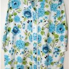 MAGGIE BARNES WOMEN'S PLUS SIZE 1X (18/20) FLORAL LONG BUTTON DOWN SHIRT/TOP