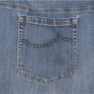 JONES NEW YORK BLUE JEANS WOMENS PLUS SIZE 22W SHORT STRETCH EMBELLISHED POCKETS