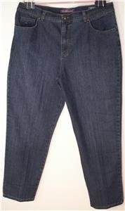 "GLORIA VANDERBILT ""AMANDA"" BLUE DENIM JEANS WOMEN'S SIZE 18 30"" INSEAM"