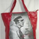 "ELVIS PRESLEY LARGE RED ""PERFORMANCE"" TOTE BAG BLACK & WHITE PHOTO IMAGE  NWT!"