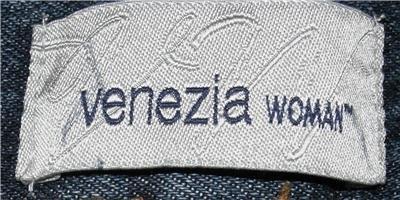 VENEZIA BLUE DENIM JEANS WOMEN'S PLUS SIZE 34WP BOOT CUT 100% COTTON MEDIUM WASH