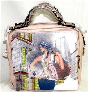 BEAUTIFUL BEIGE FASHIONISTA/ART HANDBAG/SHOULDER BAG/CROSS-BODY BAG MSR $80 NWT