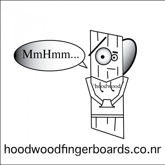 hoodwood sticker MmHmm...