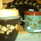 Eldreth Pottery Redware candle crock