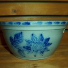 Eldreth Pottery salt-glazed small nesting bowl with sunflower design