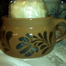 Eldreth Pottery redware soup mug