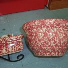 """Henn Workshops Rose Sponged 6"""" mixing bowl"""
