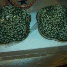 Henn Workshops blue sponged petal bowl