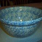 "Henn Workshops blue Sponged 10"" mixing bowl"