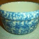 Henn Workshops blue sponged butter crock