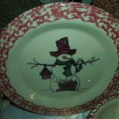Henn Workshops cranberry sponged Mr Shivers dinner plate