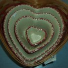 Henn Workshops cranberry sponged large heart bowl