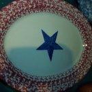 "Gerald E Henn Workshops old glory 13"" oval platter"