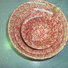 """Henn Workshops rose Sponged 8"""" mixing bowl"""