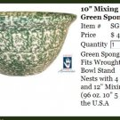 "Henn Workshops green Sponged 10"" mixing bowl"
