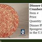 Henn Workshops cranberry sponged dinner plate