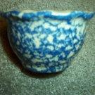 Henn Workshops blue sponged petal ramekin