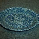 Henn Workshops blue sponged  Large AuGratin server