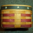 Henn Workshops old glory stars & stripes coast basket with plastic protector