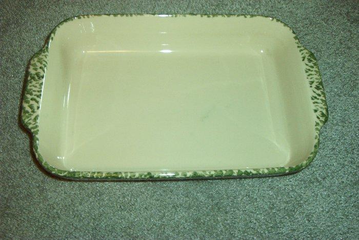 Henn Workshops blue sponged 9x13 hostess casserole