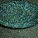 Henn Workshops double blue/green sponged medium oval serving bowl