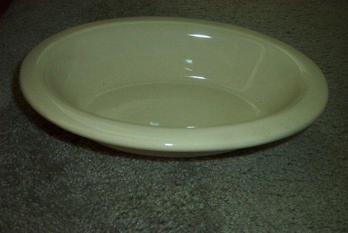 """Gerald E Henn Workshops cream 12"""" oval server bowl"""