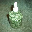 Henn Workshops green sponged soap/lotion dispenser