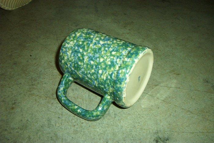 Henn Workshops double blue/green sponged frosty mugs set of 2