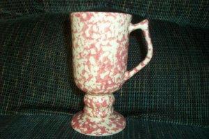 Henn Workshops cranberry Sponged  dessert Cafe mugs set of 2