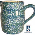 Henn Workshops double blue/green sponge 2 quart pitcher