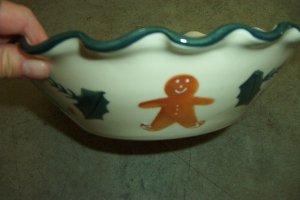 Hartstone gingerbread medium ruffle bowl