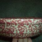 """Henn Workshops cranberry/rose sponged large 13 1/4"""" pasta/harvest bowl"""