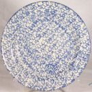 Henn Workshops blue sponged dinner plates set of 4 used
