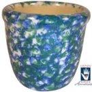 Henn Workshops blue/green sponged votive cup
