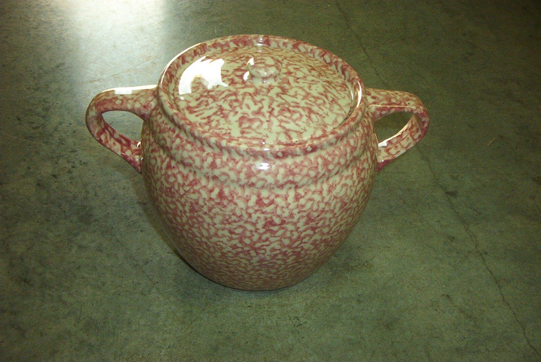 Henn Workshops rose sponged cookie jar / soup pot