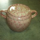 Henn Workshops rose sponged cookie jar / soup pot
