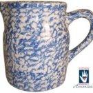 Henn Workshops blue sponge 1 quart pitcher