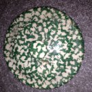 Henn Workshops green sponged cookie jar / soup pot lid only