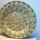 Henn Workshops green sponged luncheon plate set of 2