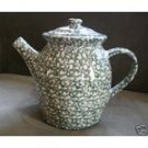 Henn Workshops green sponged quiet time collectors society teapot
