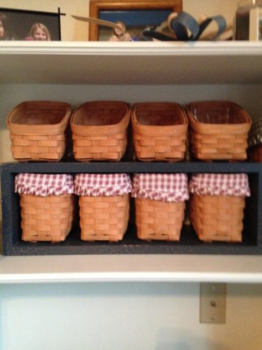 Gerald E Henn Workshops set of 4 bin baskets fruitwood stain