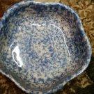 Henn Workshops Double blue/green sponged petal bowls set of 2