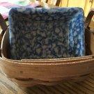 Henn Workshops blue sponged salsa dish & fruitwood basket set