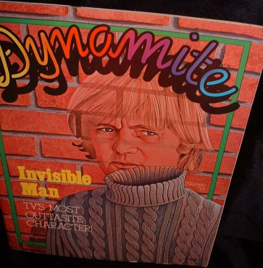 Dynamite Magazine 1975 Invisible Man #18 with Super Stickers Greeting Cards Mobile and Photos